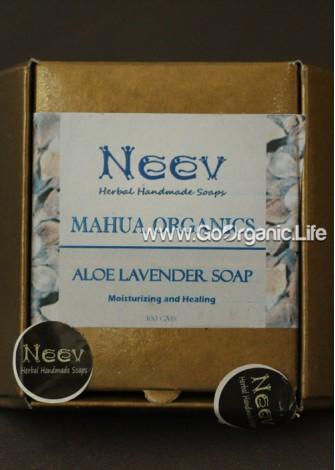 Mahua Organics  Aloe Lavender Soap - Neev  (100gm)