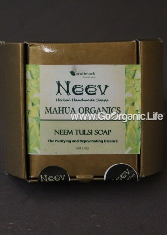 Mahua Organics  Neem Tulsi Soap - Neev  (100gm)