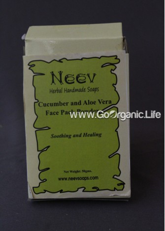 Aromatherapy Shaving Soap Musky Patchouli and Healing Teatree - Neev (50g)
